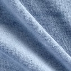 Solid Velour Dusty Blue Fabric