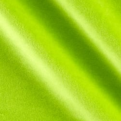 Solid Velour Neon Lime Fabric