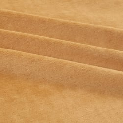 Solid Velour Camel Fabric