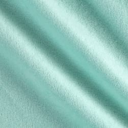 Solid Velour Mint Fabric