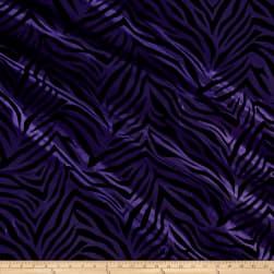 Flocked Zebra Taffetta Purple