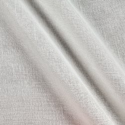 "110""Faux Linen Sheer Metallic White/Silver"