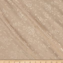 Rose Satin Jacquard Champagne Fabric