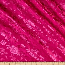 Rose Satin Jaquard Fuchsia Fabric