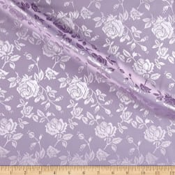 Rose Satin Jaquard Lavender Fabric