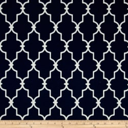 Bryant Indoor/Outdoor Garden Gate Navy Fabric