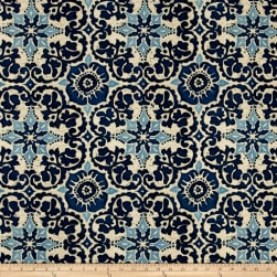 Bryant Indoor/Outdoor Woodblock Prism Blue Fabric