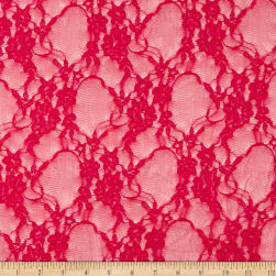 Giselle Stretch Floral Lace Strawberry