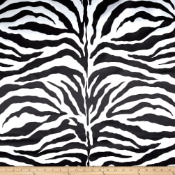 Taffeta Zebra White/Black Fabric