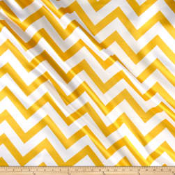 Mi Amor Duchess Satin Chevron Medium Yellow/White Fabric