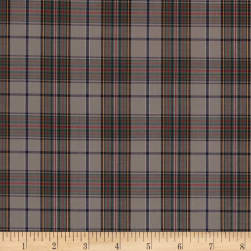 Pima Tartan Plaid Shirting Grey