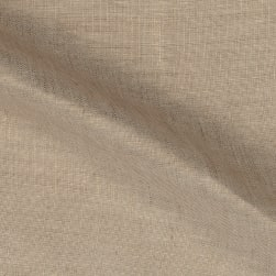 Roma Hanky Metallic Linen Gold on Oatmeal Fabric