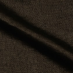 Roma Hanky Metallic Linen Gold on Black Fabric