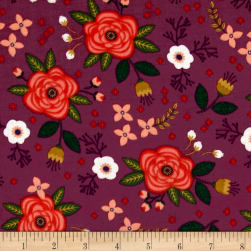 Enchanted Floral Double Gauze Plum