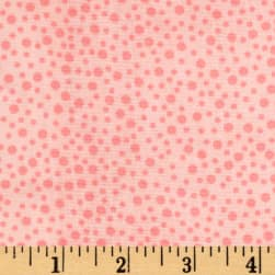 Little Bird Confetti Double Gauze Pink Fabric
