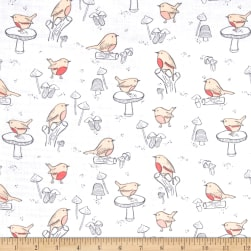 Little Bird Birds Double Gauze White