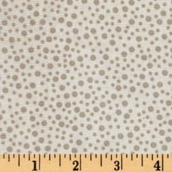 Little Bird Confetti Double Gauze Light Taupe Fabric