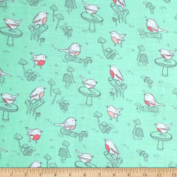 Little Bird Birds Double Gauze Aqua