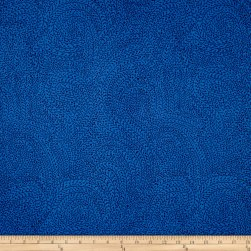 "Michael Miller Luxe 108"" Wide Back Vine Maze Blue"