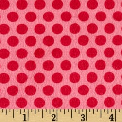 Minky 2 Tone Dot Raspberry Fabric