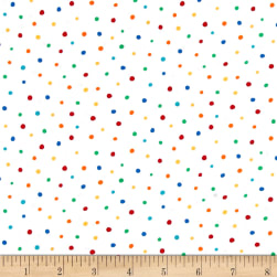 Michael Miller Creepy Crawlies Dot Frolic White Fabric