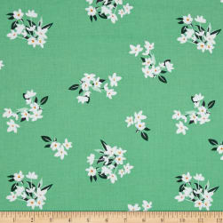 Michael Miller Bed of Roses Lily-Of-The-Valley Jade
