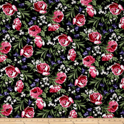 Michael Miller Bed of Roses Bed of Roses Onyx