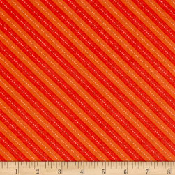 Michael Miller Up & Away Balloon Stripe Orange