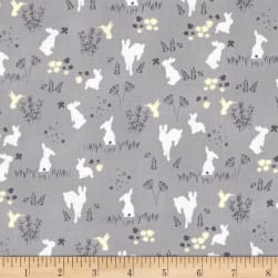 Michael Miller House of Hoppington Frolic Fog Fabric