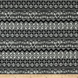 Classic Chic Geometric ITY Knit Black/White Fabric