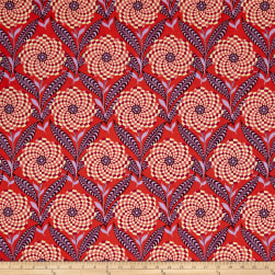Amy Butler Eternal Sunshine Zebra Bloom Persimmon Fabric