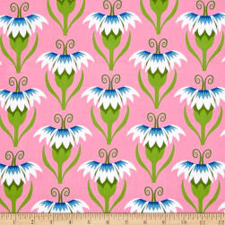 Jane Sassaman Cool Breeze Pretty Pinks Blue Fabric