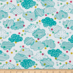 Erin McMorris Noteworthy Cloudy Day Seablue Fabric