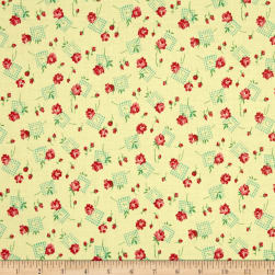 Verna Mosquera Sugar Bloom Gingham Garden Pineapple Fabric