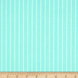 Verna Mosquera Sugar Bloom Candy Stripe Aqua Fabric