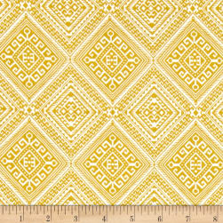 Joel Dewberry Cali Mod Ethnic Diamond Gold Fabric