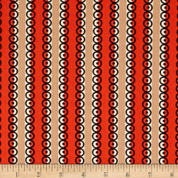 Denyse Schmidt Stonington Dot Stripe Lobster Fabric
