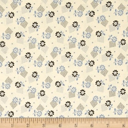Denyse Schmidt Stonington Tossed Floral Dungaree Fabric
