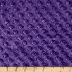 "Shannon Minky Cuddle Dimple Dot 90"" Amethyst"