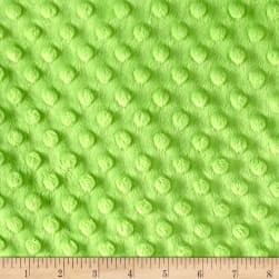 "Shannon Minky Cuddle Dimple Dot 90"" Dark Lime"