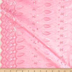 Fancy Allover Eyelet Baby Pink