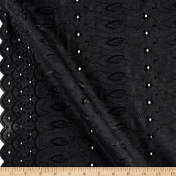 Fancy Allover Eyelet Black Fabric