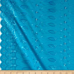 Fancy Allover Eyelet Turquoise