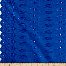 Fancy Allover Eyelet Royal Blue Fabric