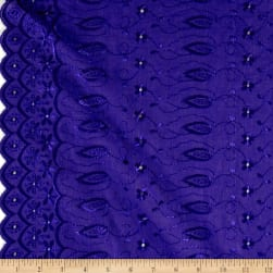 Fancy Allover Eyelet Purple Fabric