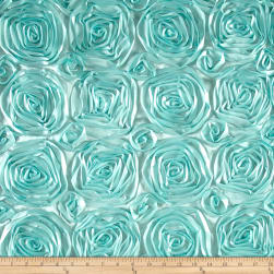 Wedding Rosette Satin Mint Fabric