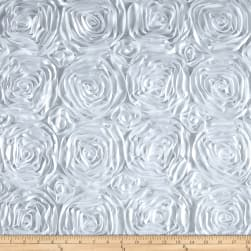 Wedding Rosette Satin White Fabric