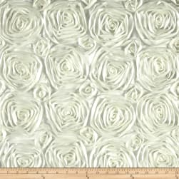Wedding Rosette Satin Dark Ivory Fabric