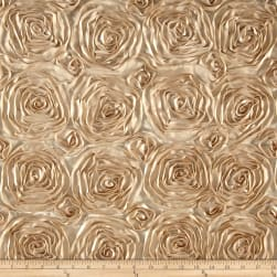 Wedding Rosette Satin Champagne Fabric