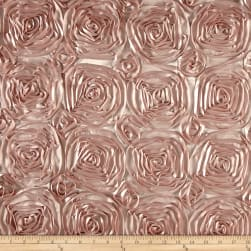 Wedding Rosette Satin Blush Pink Fabric